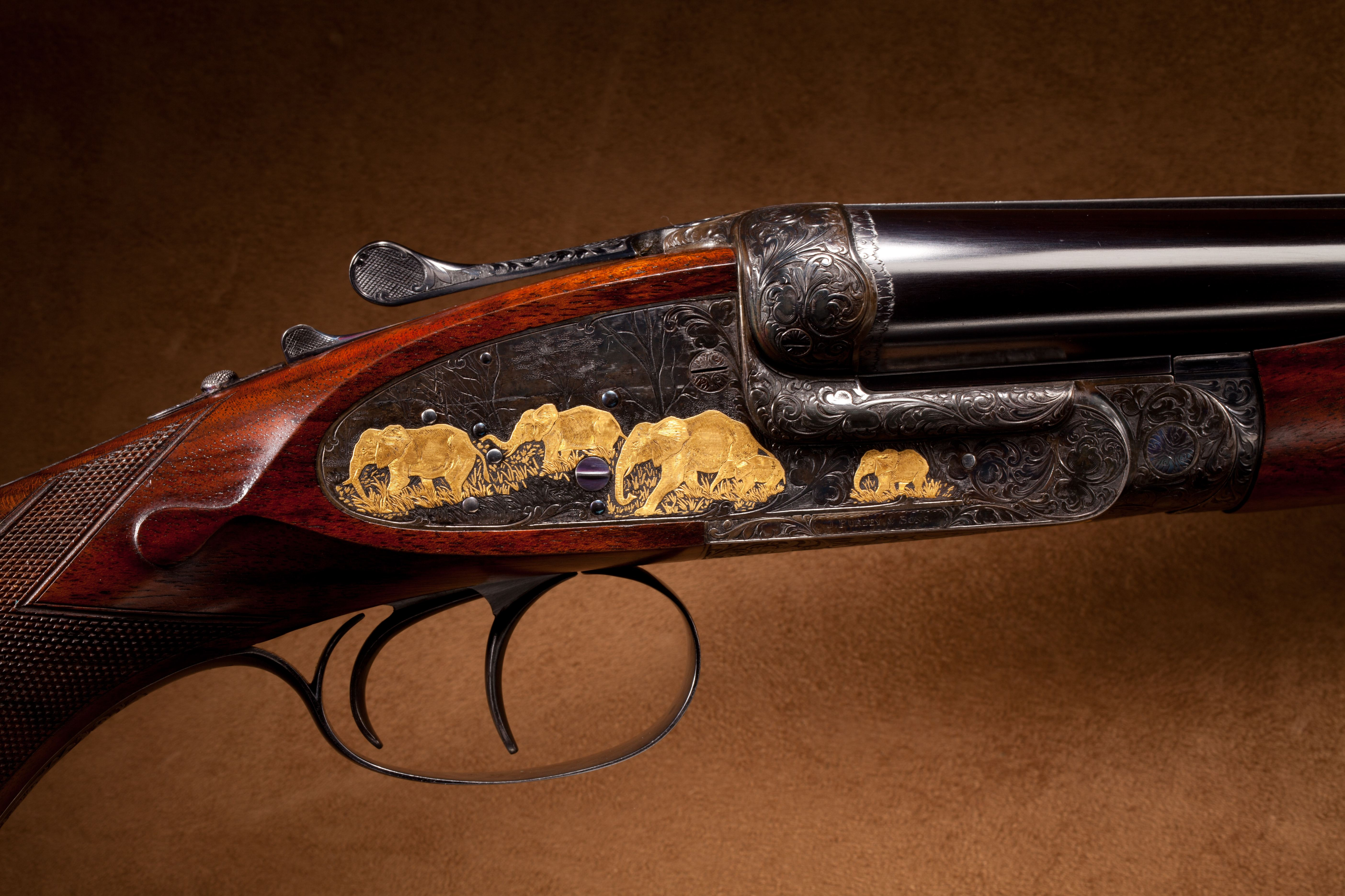 "Purdey Double Rifle - .470 3 1/4"" cal."