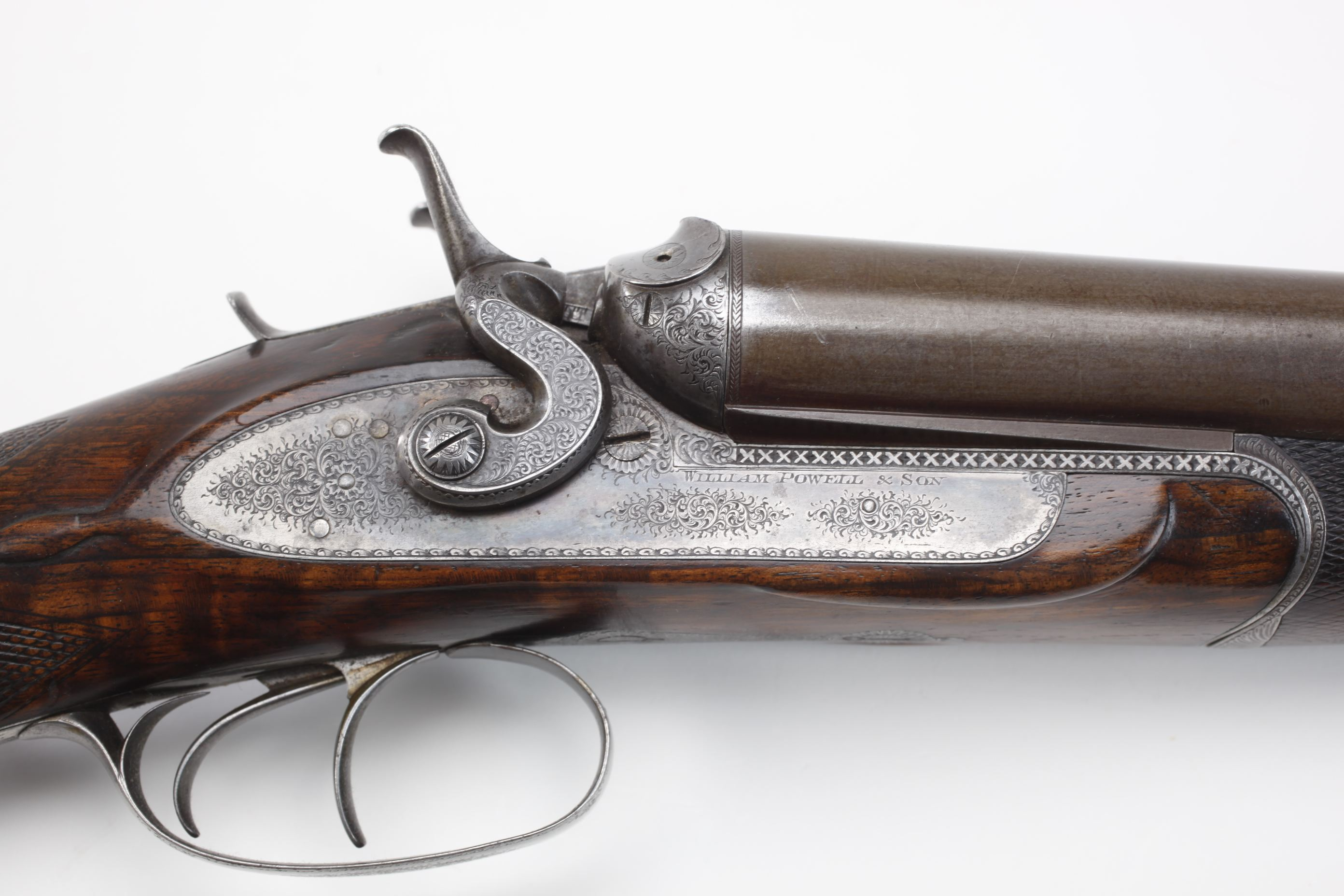 William Powell & Son Side by Side Lifter Action Hammer Shotgun