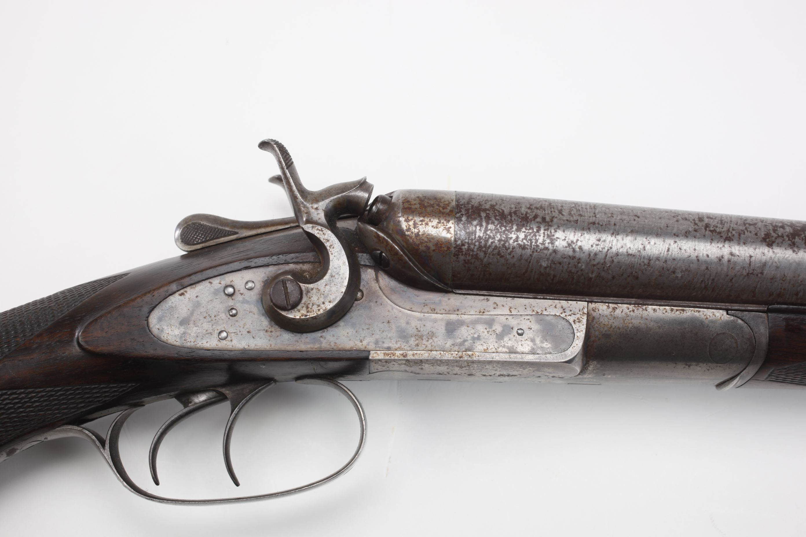 E. Remington and Sons Side by Side Hammer Shotgun