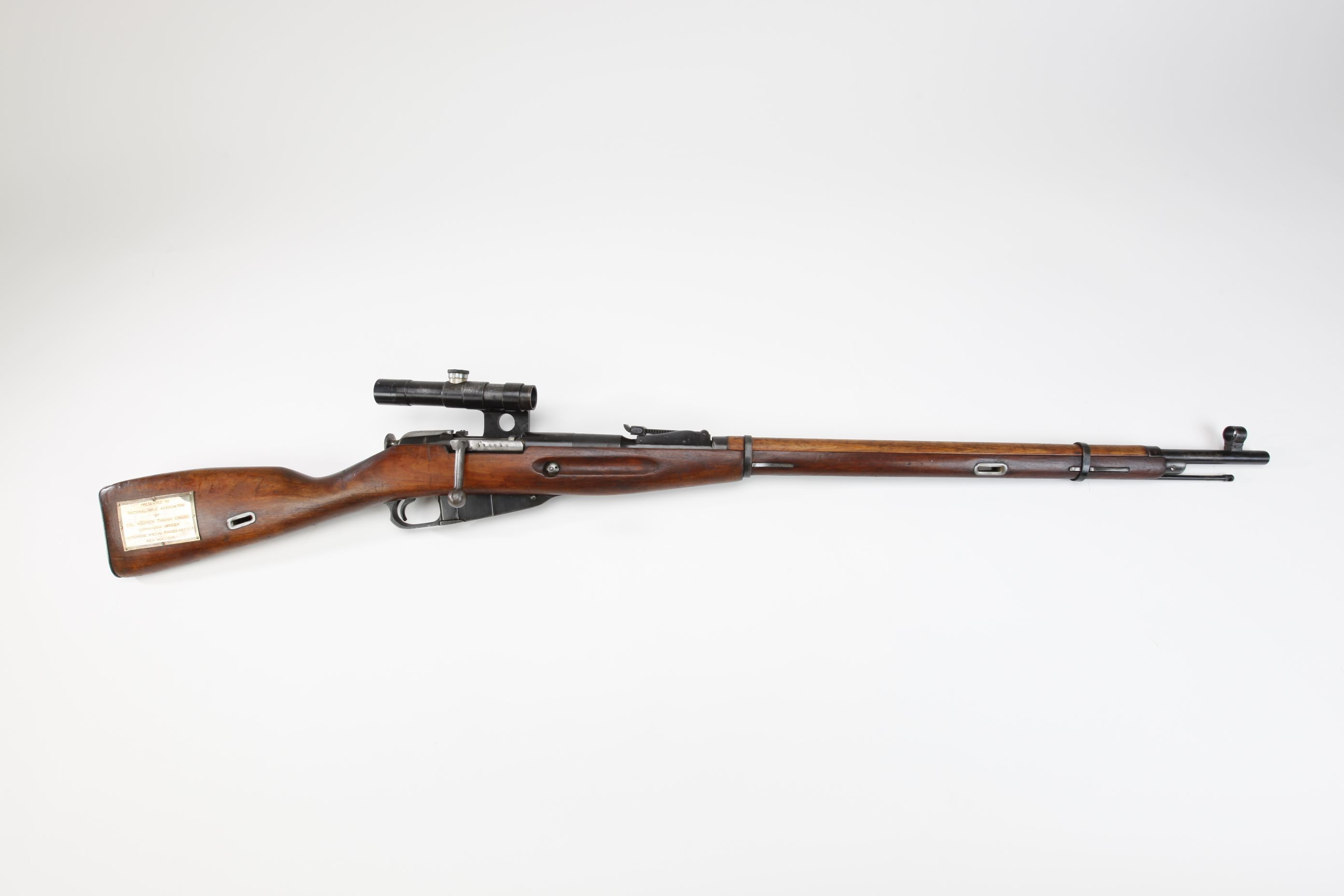 Hungarian Mosin Nagant Model 1891 30 Bolt Action Rifle with telescopic sight