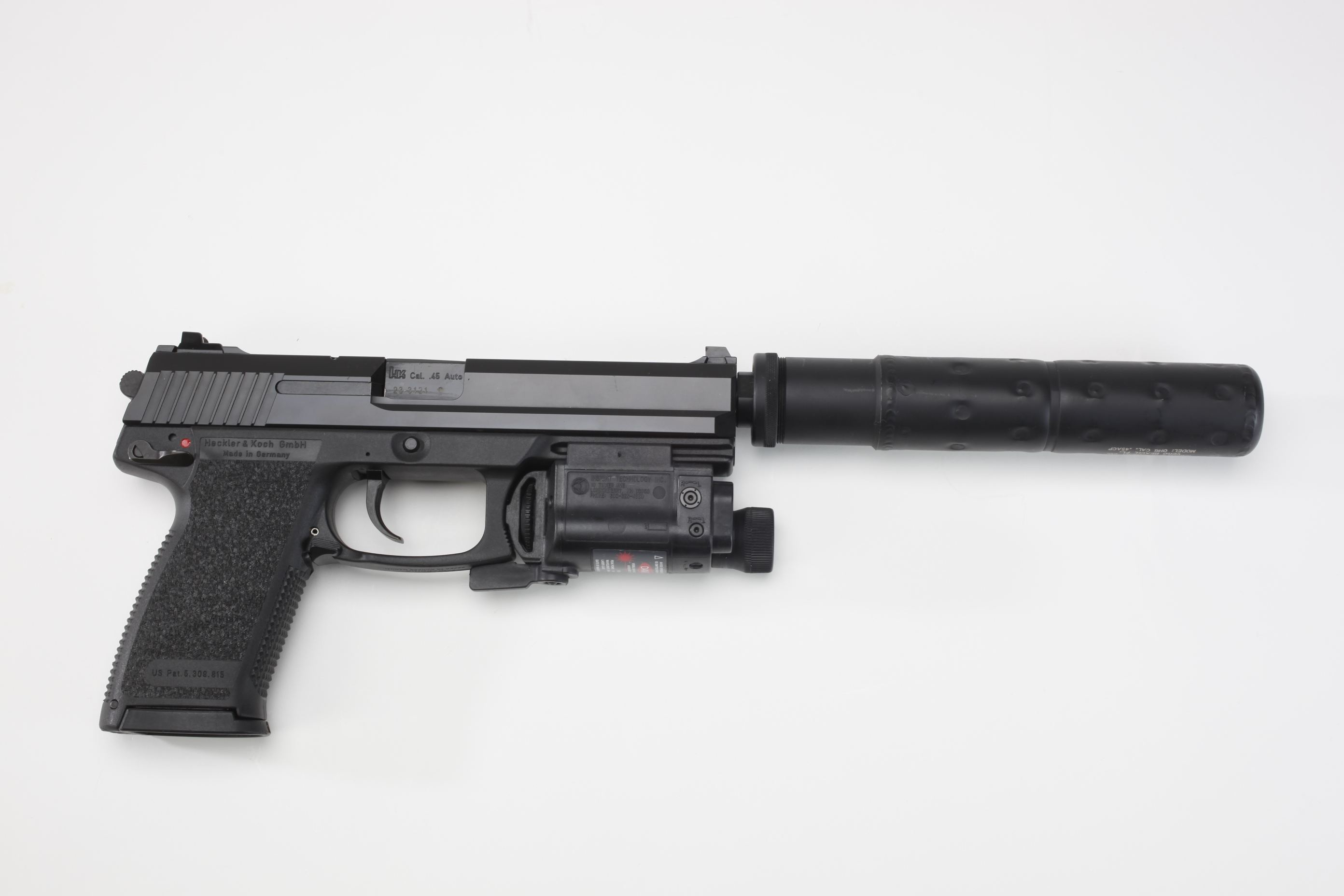 Heckler & Koch Mark 23 Offensive Handgun System with suppressor