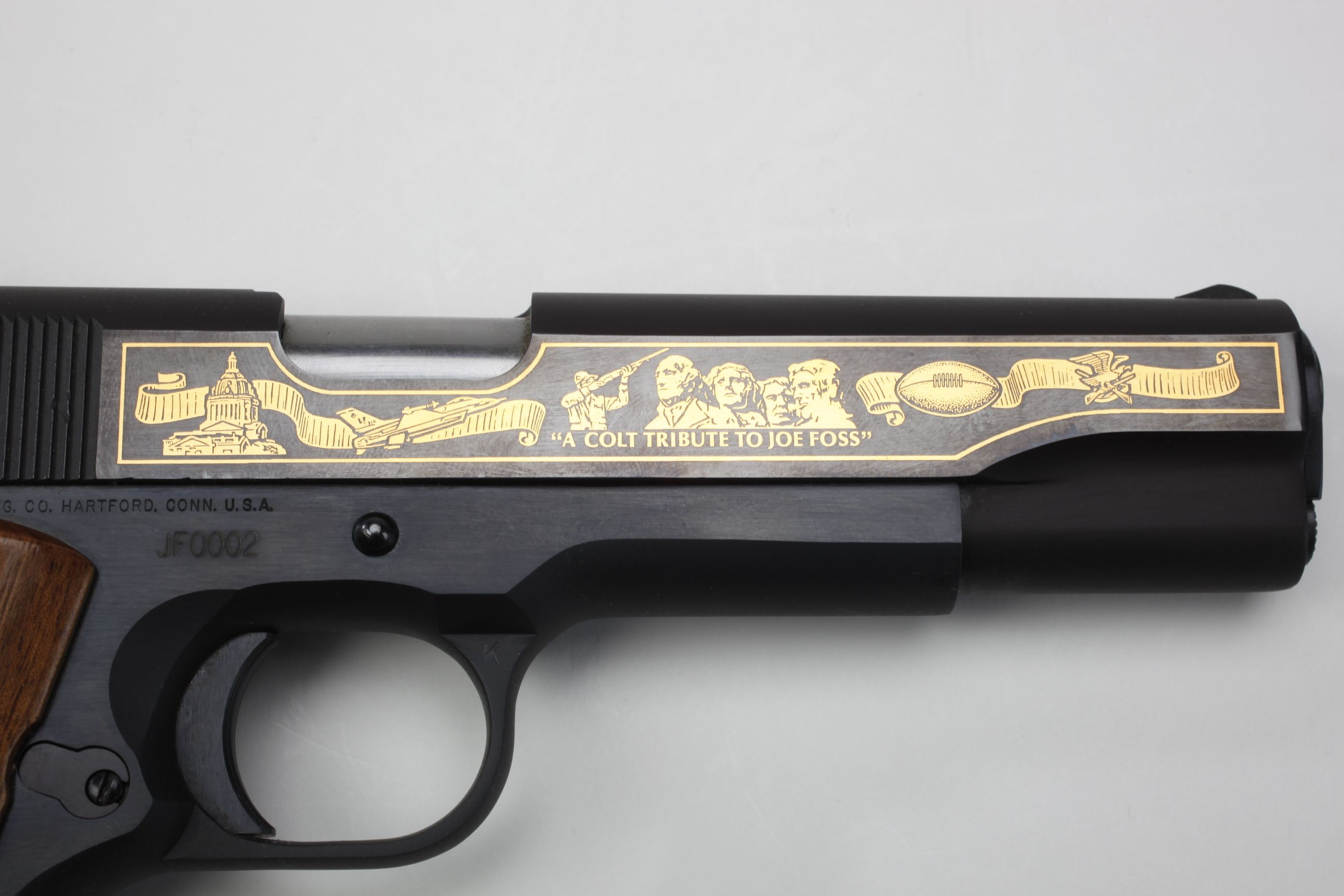 General Joseph Foss' Colt Model 1911A1 Semi-Automatic General Officer's Pistol