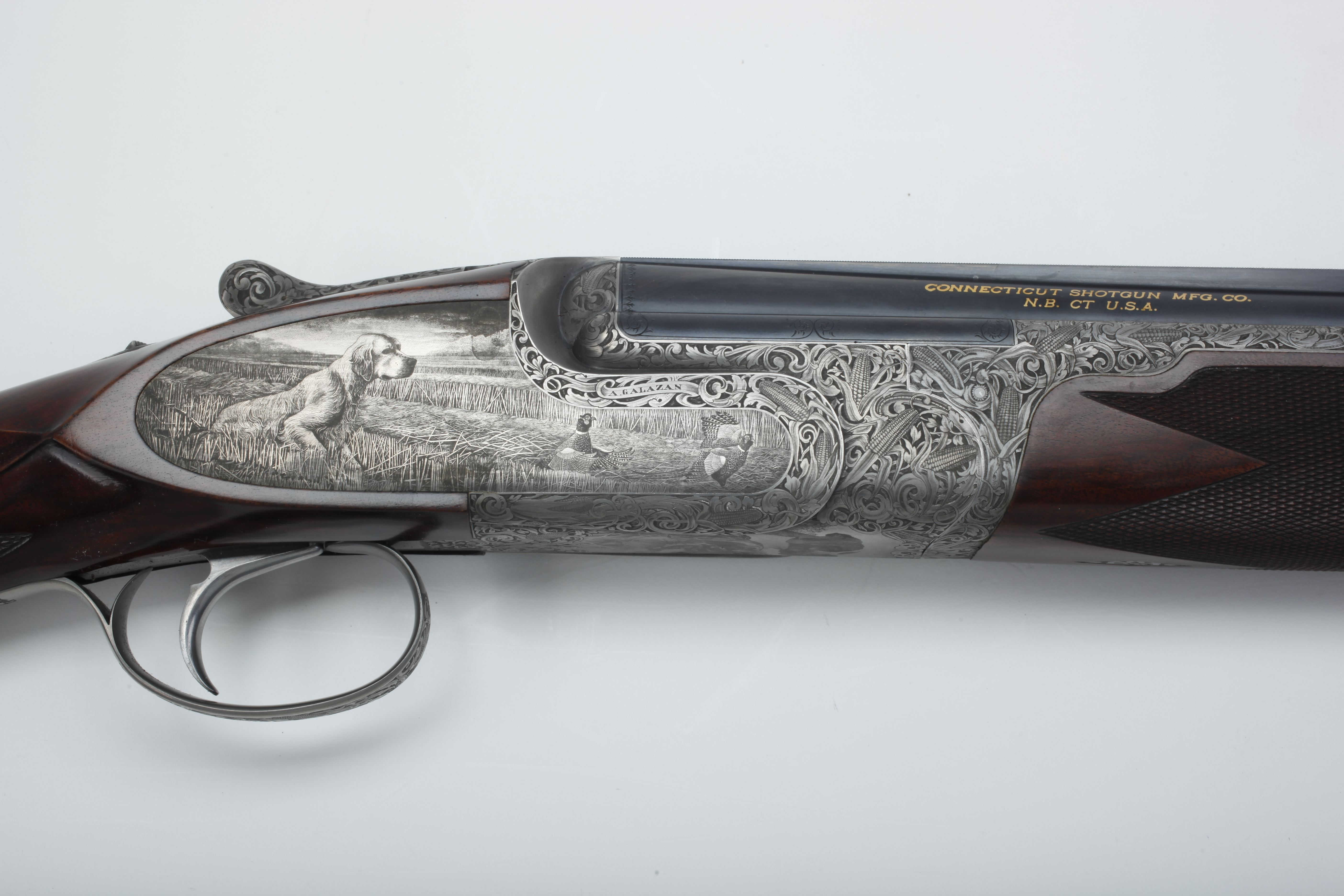 Galazan Engraved Over-Under Shotgun - 20 ga.