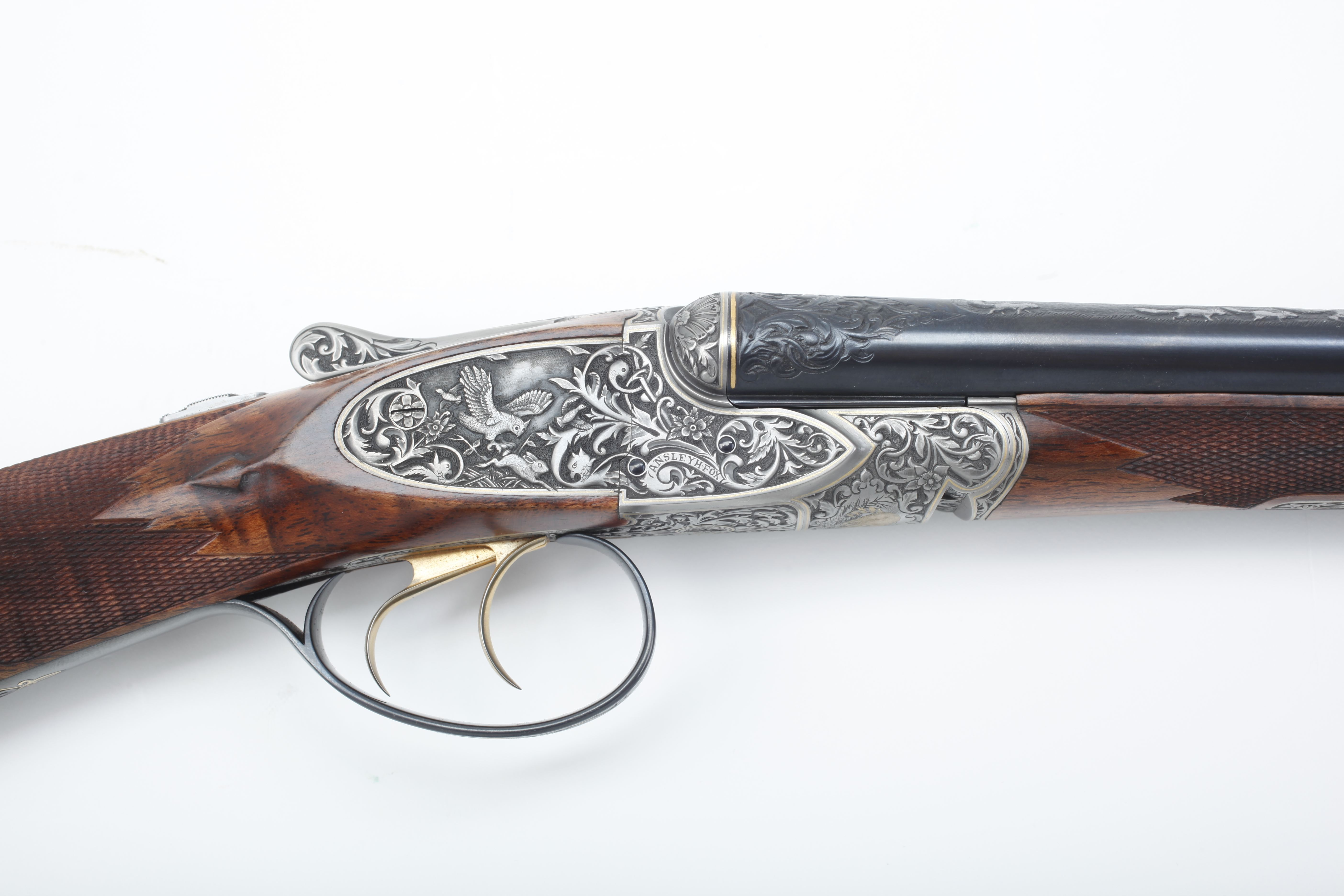 Galazan A.H. Fox Double Rifle - .22 cal.