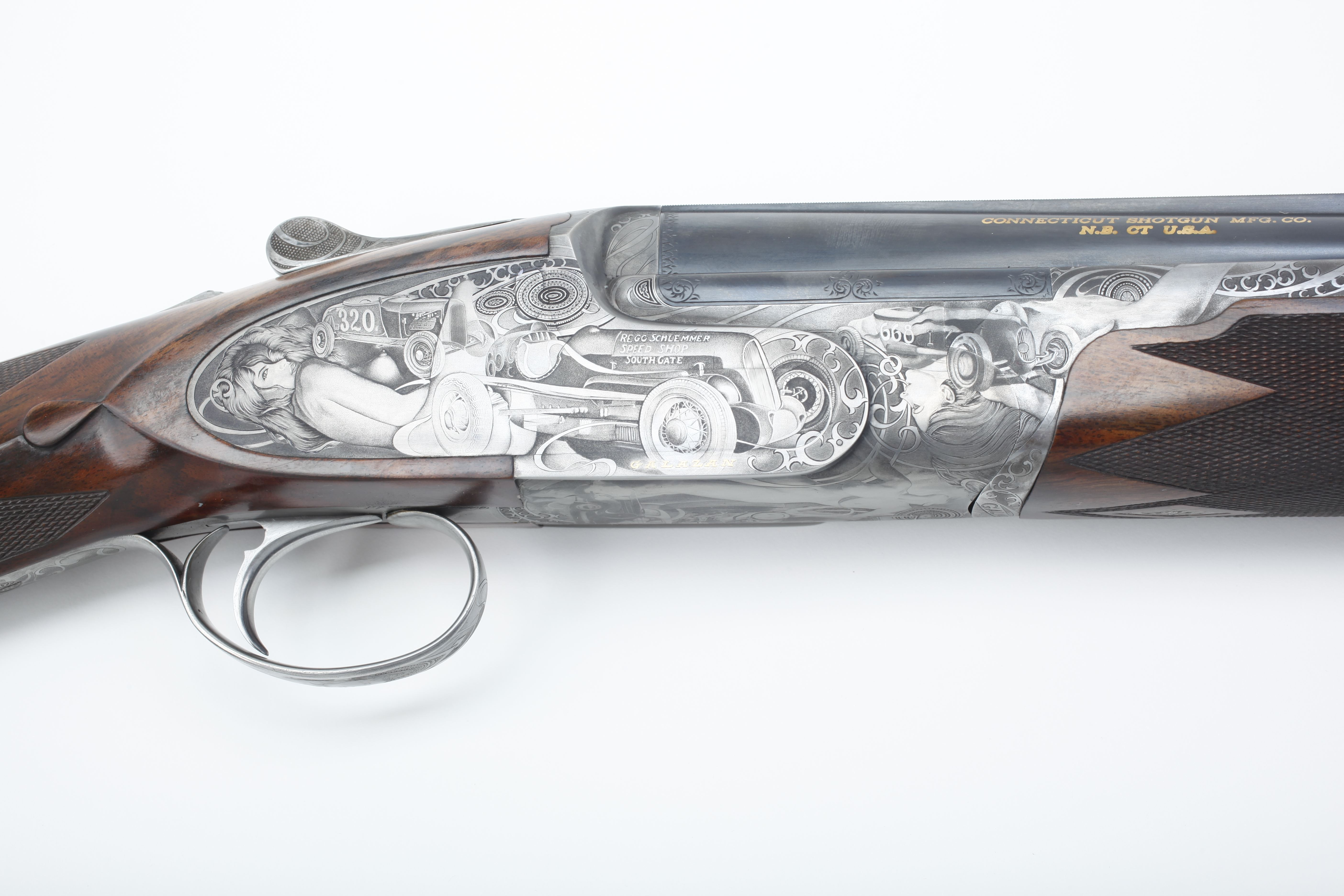 Galazan Engraved Over-Under Shotgun - 12 ga.