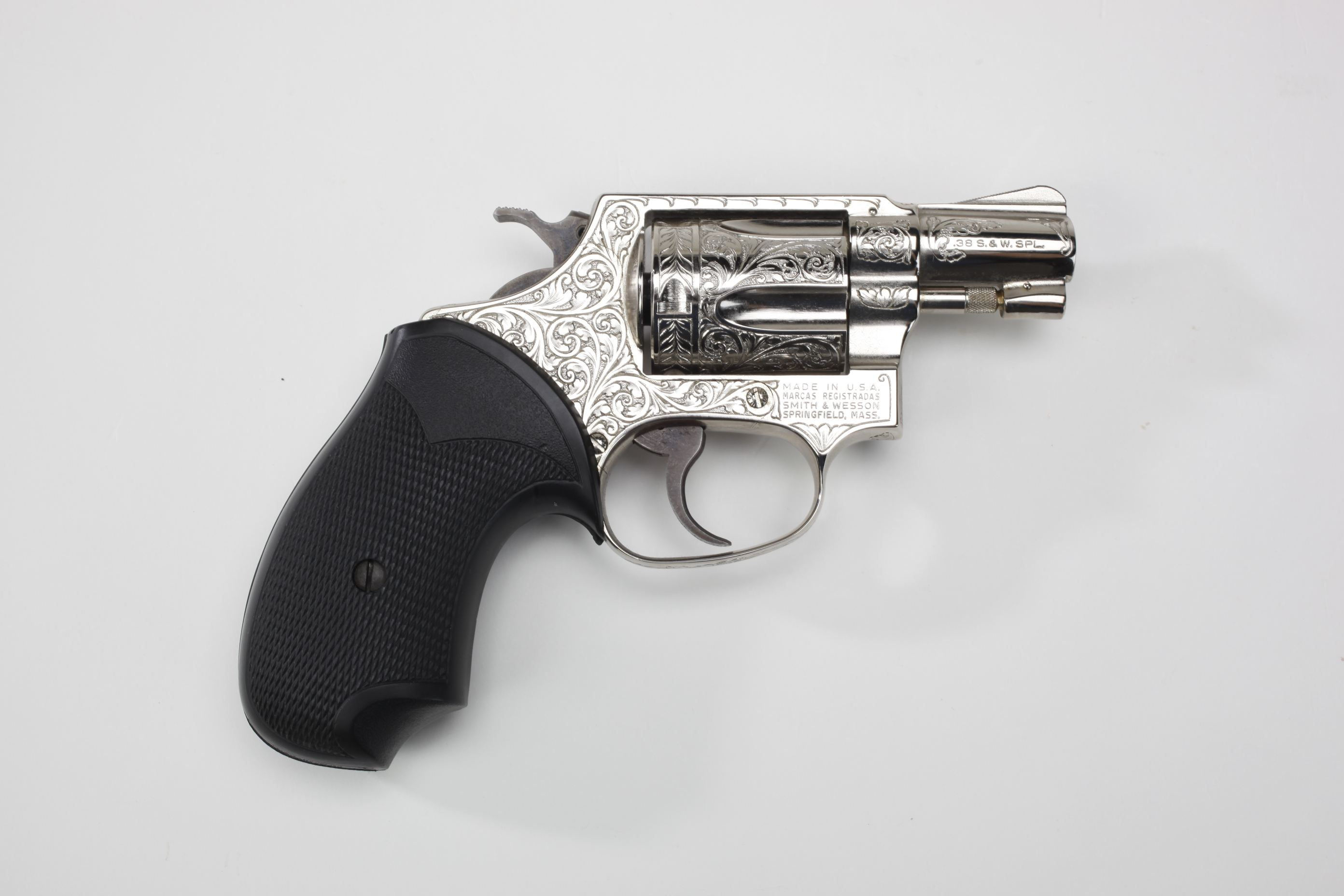 Smith & Wesson Model 36 Double-Action Revolver w/ Pachmayr grip panels