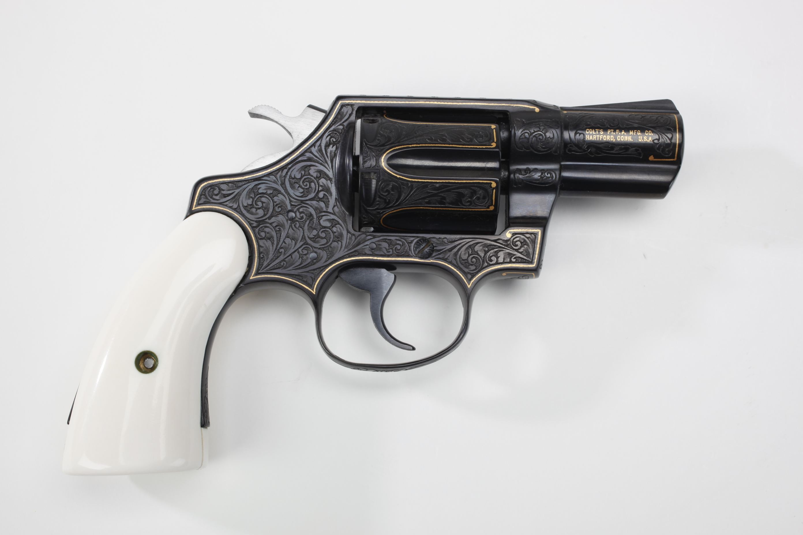 Colt Detective Special Double-Action Revolver w/ ivory grip panels
