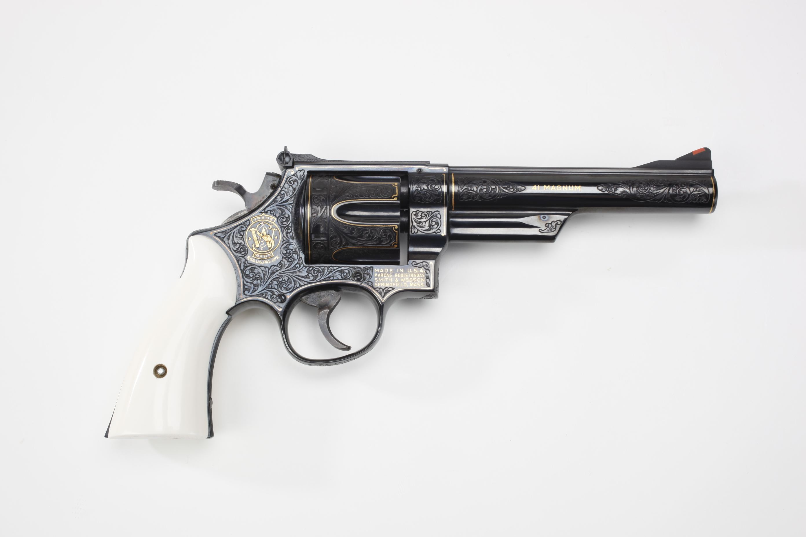 Smith & Wesson Model 57 Double-Action Revolver w/ ivory grip panels