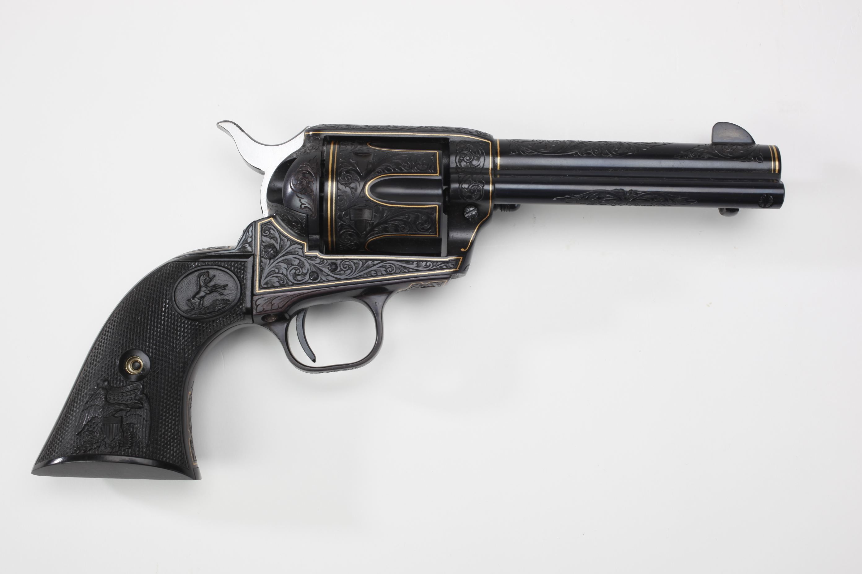Colt Single Action Army Revolver w/ rubber grip panels