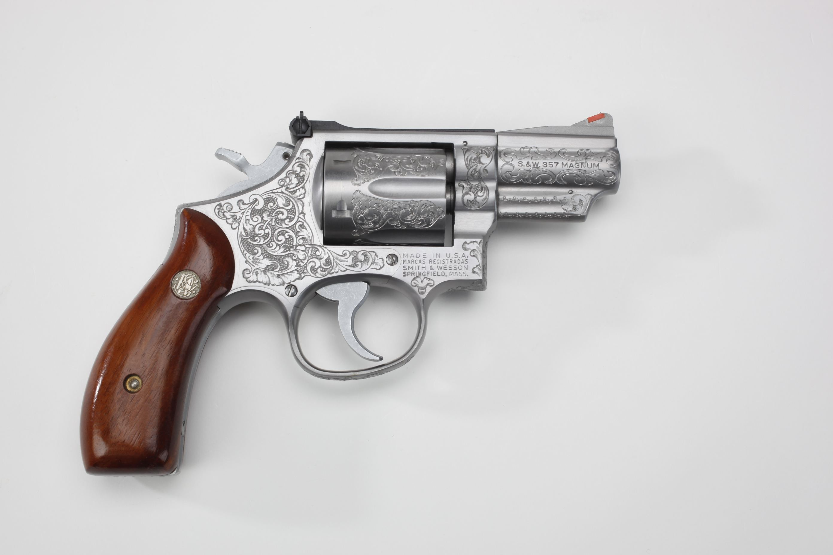 Smith & Wesson Model 66 Double-Action Revolver w/ wood grip panels
