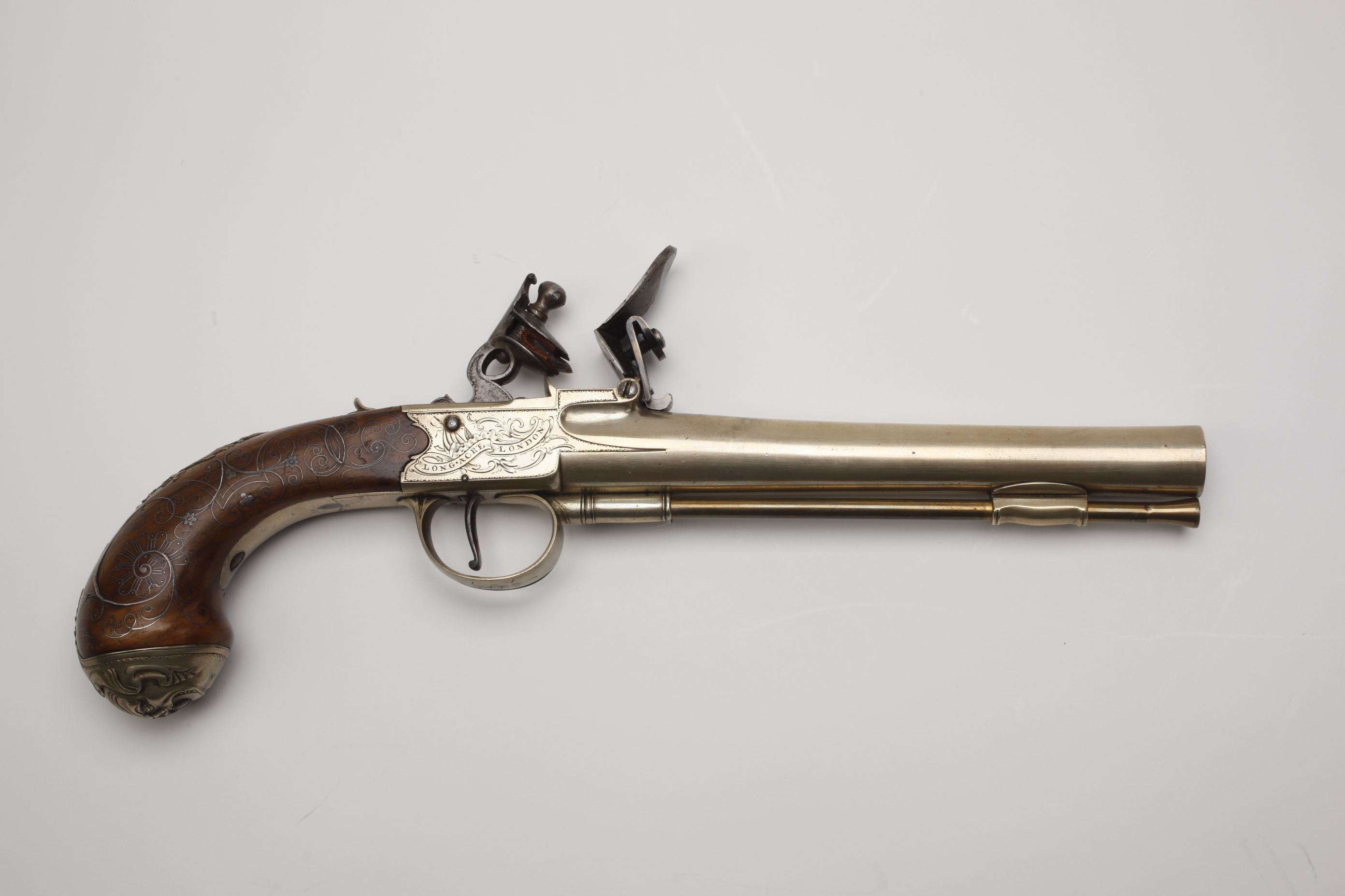 I Richards Cannon Barrel Flintlock Pistol (1)