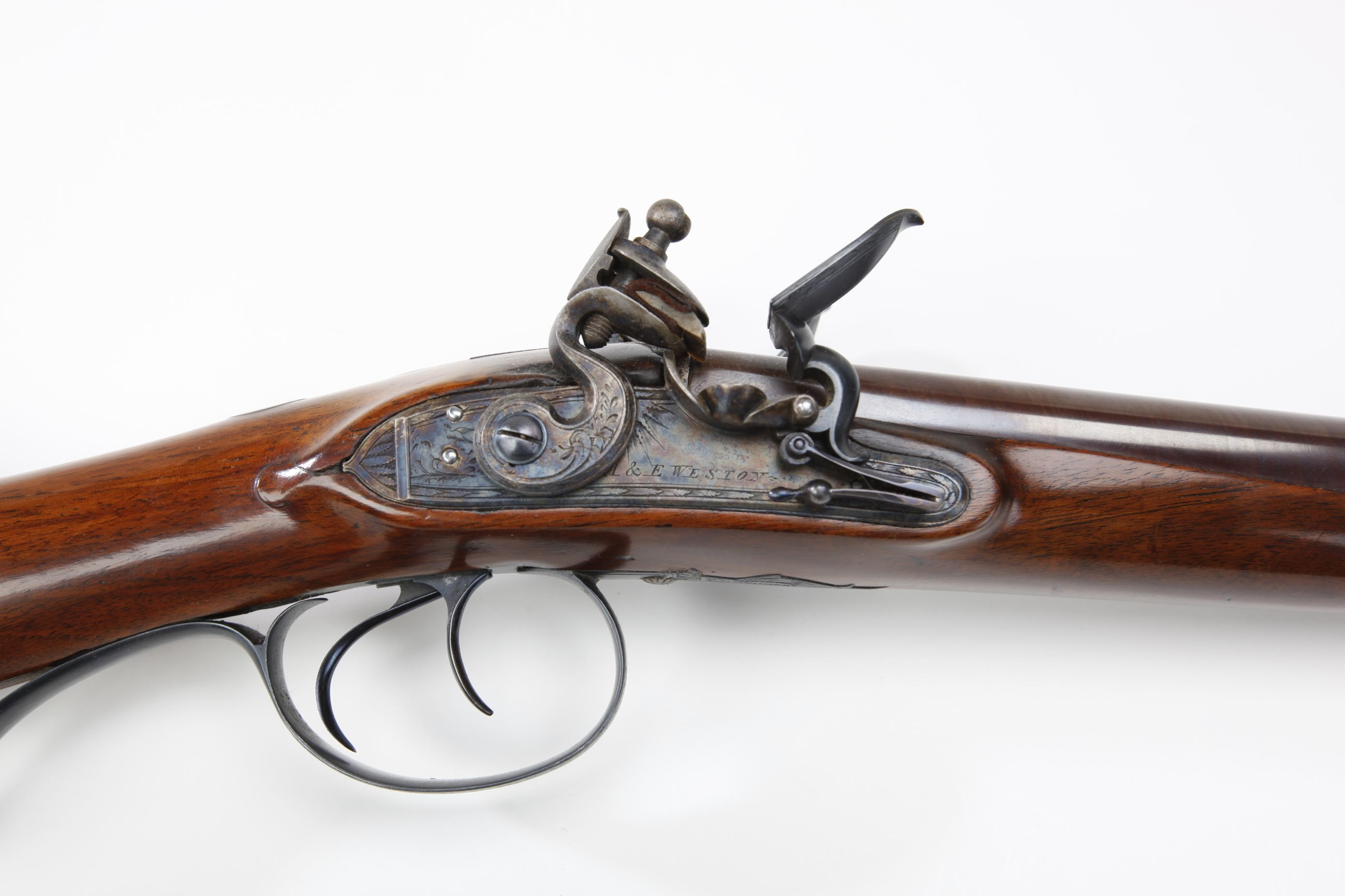 A & E Weston (Brighton, England) Side-by-Side Flintlock Shotgun