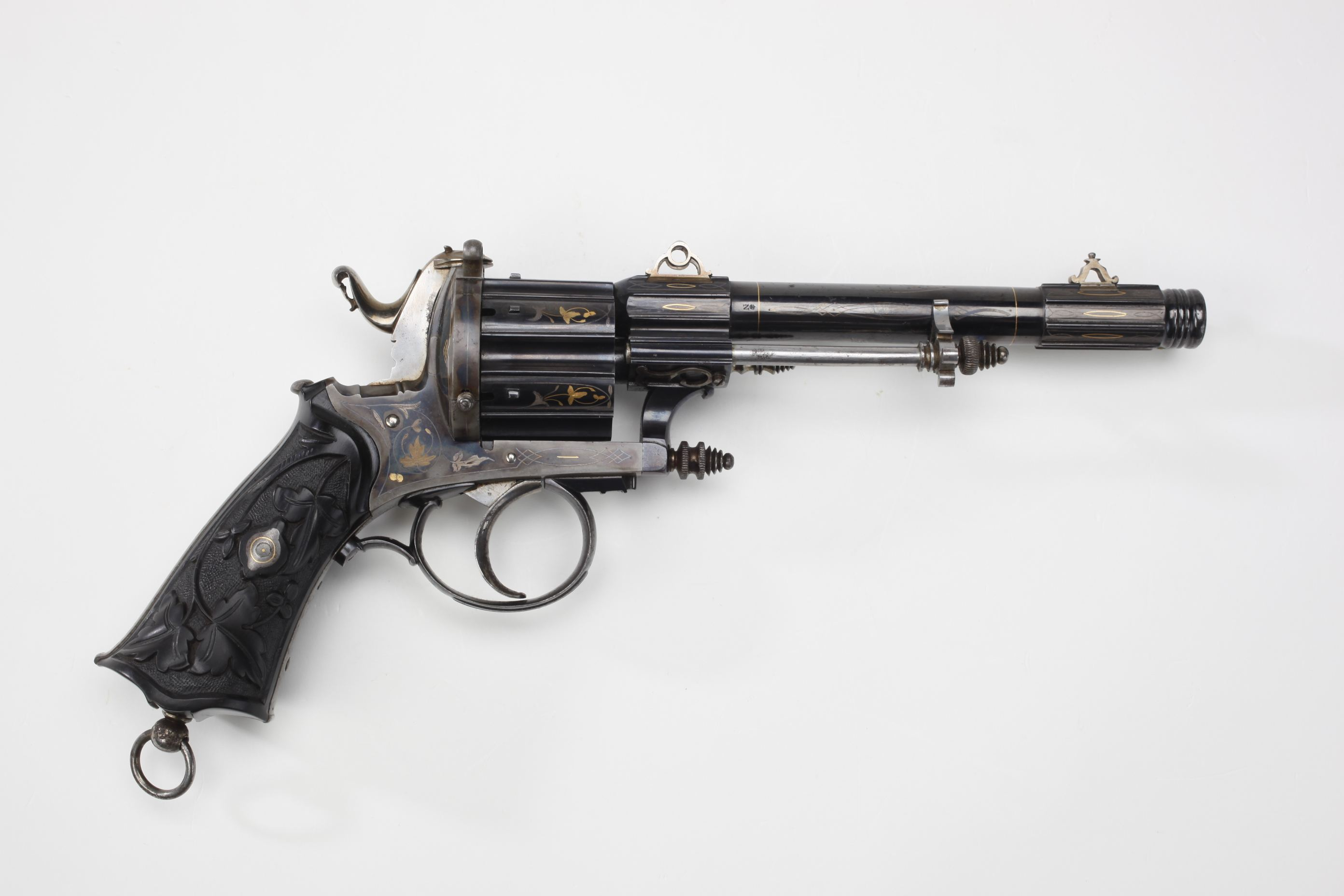 Colard (Belgium) Double-Action Pinfire Revolver