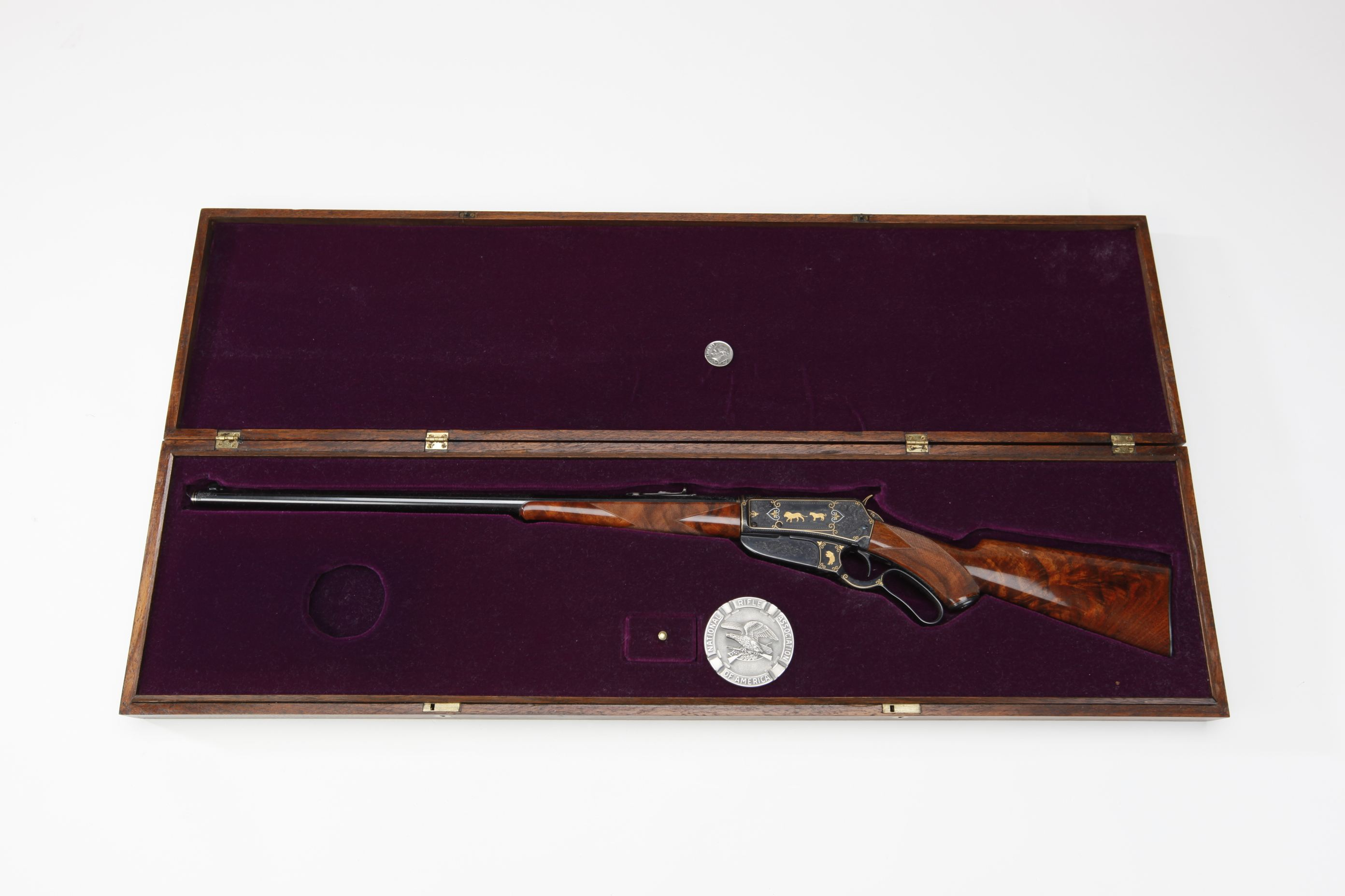 Miniature Winchester Model 1895 Lever-Action Rifle w/ case