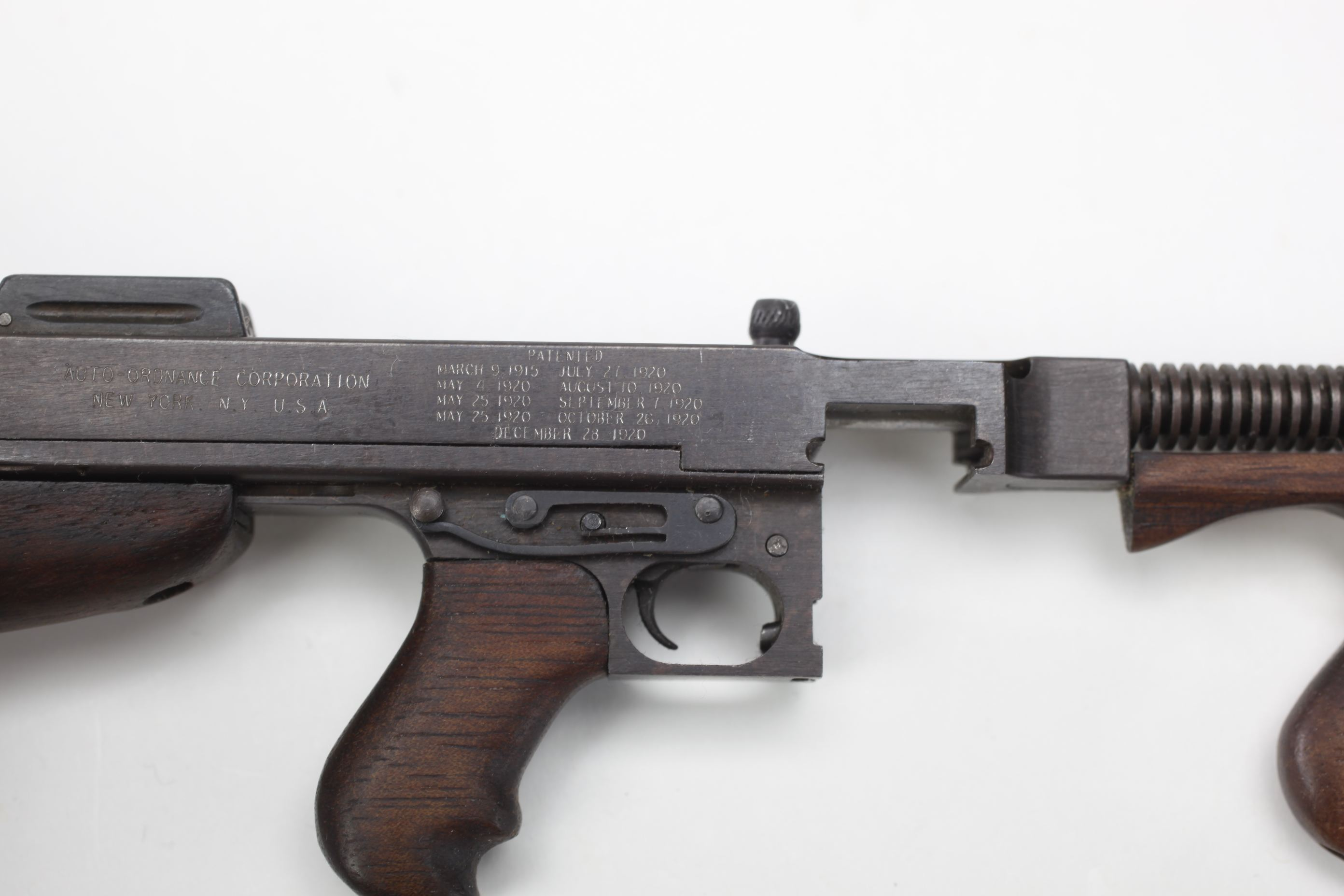 Miniature Auto-Ordnance Thompson Model 1921 Submachine Gun