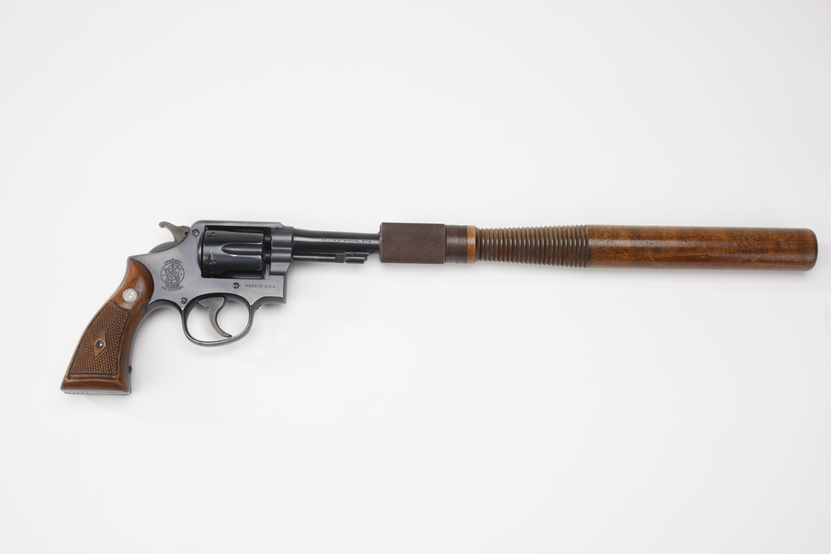 Smith & Wesson Model 10 Military and Police Revolver with Police Club Extension