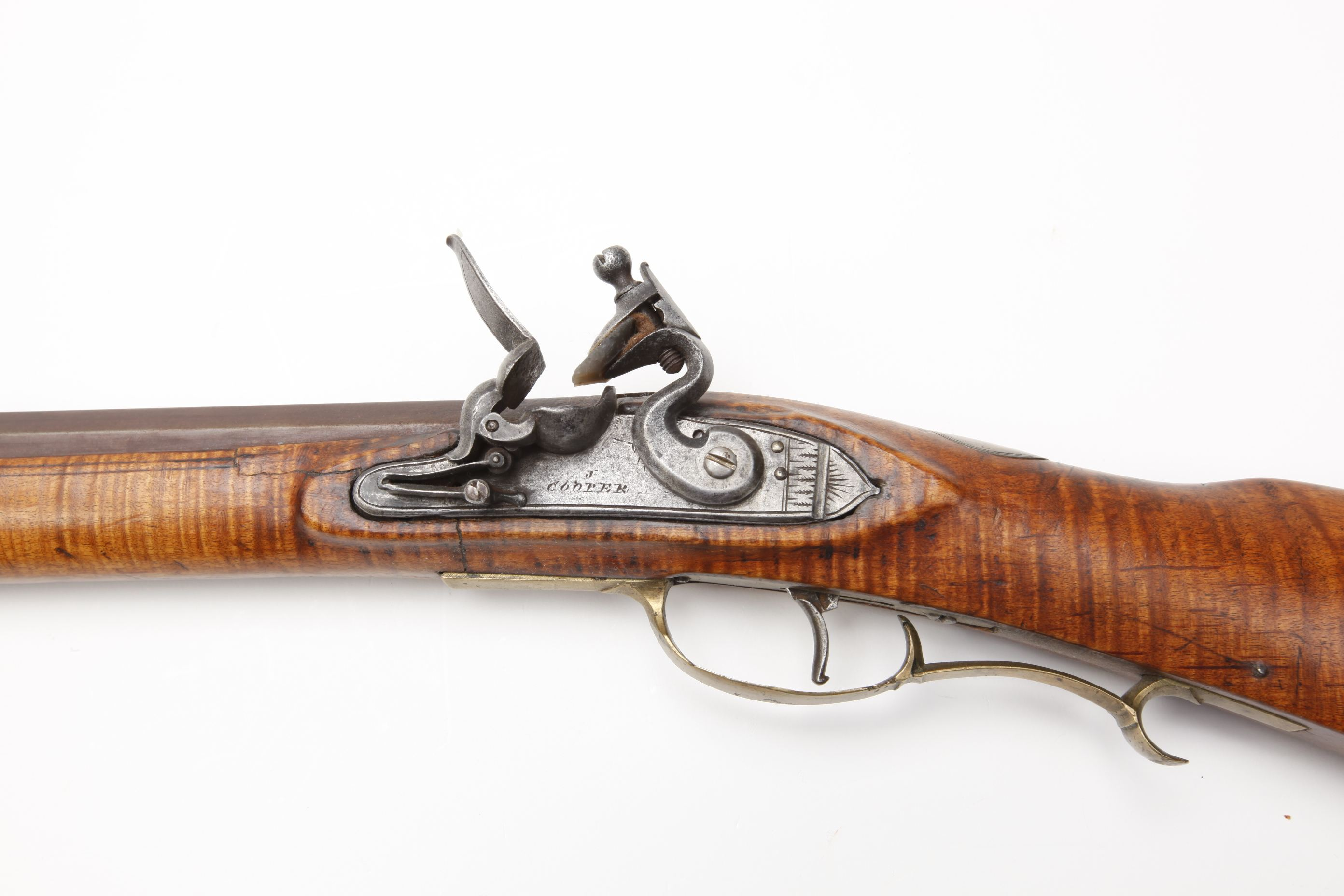 J. Cooper Left handed Pennsylvania Kentucky Flintlock Rifle