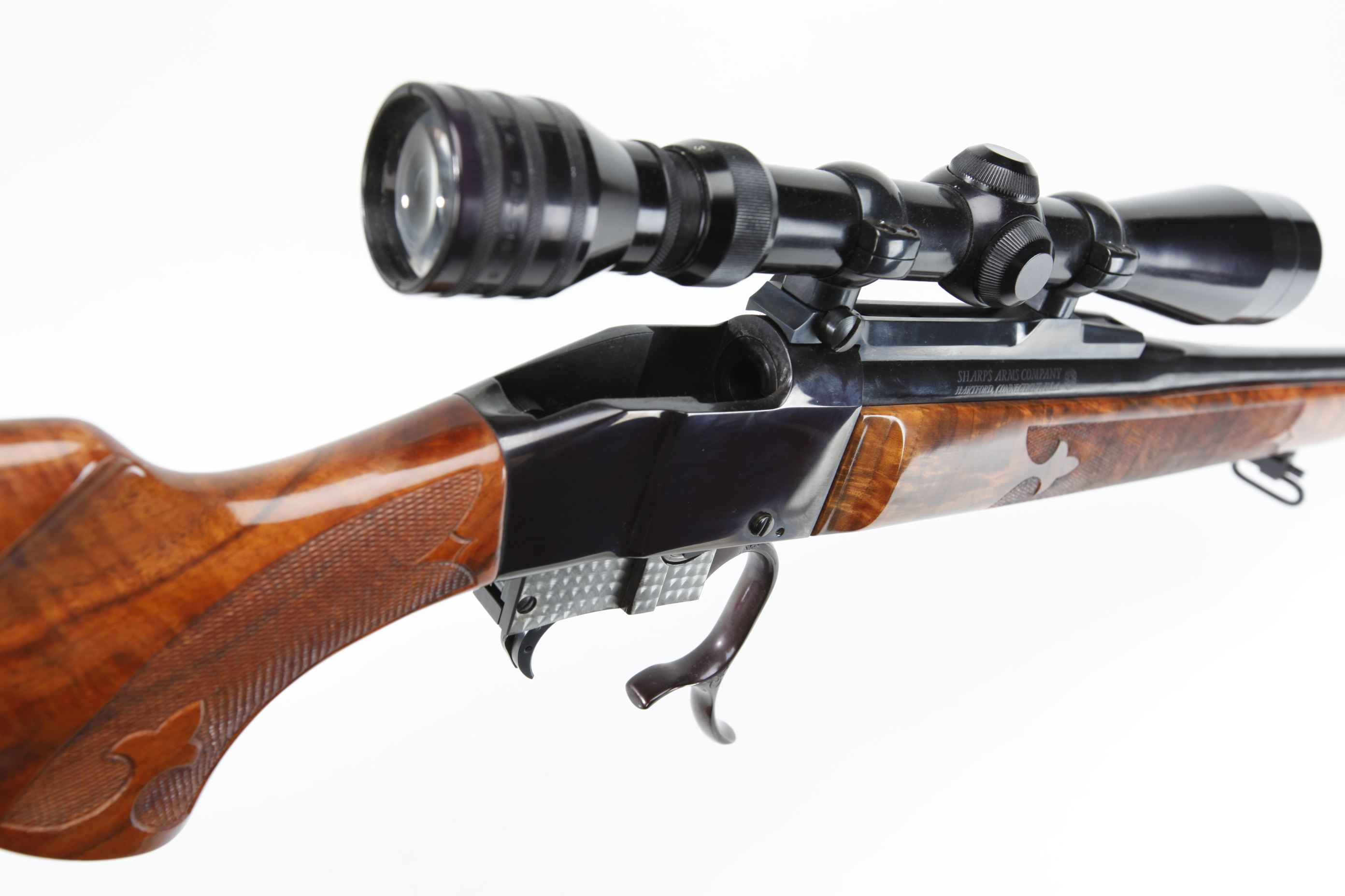 Colt Sharps Falling Block Sporting Rifle with telescopic sight
