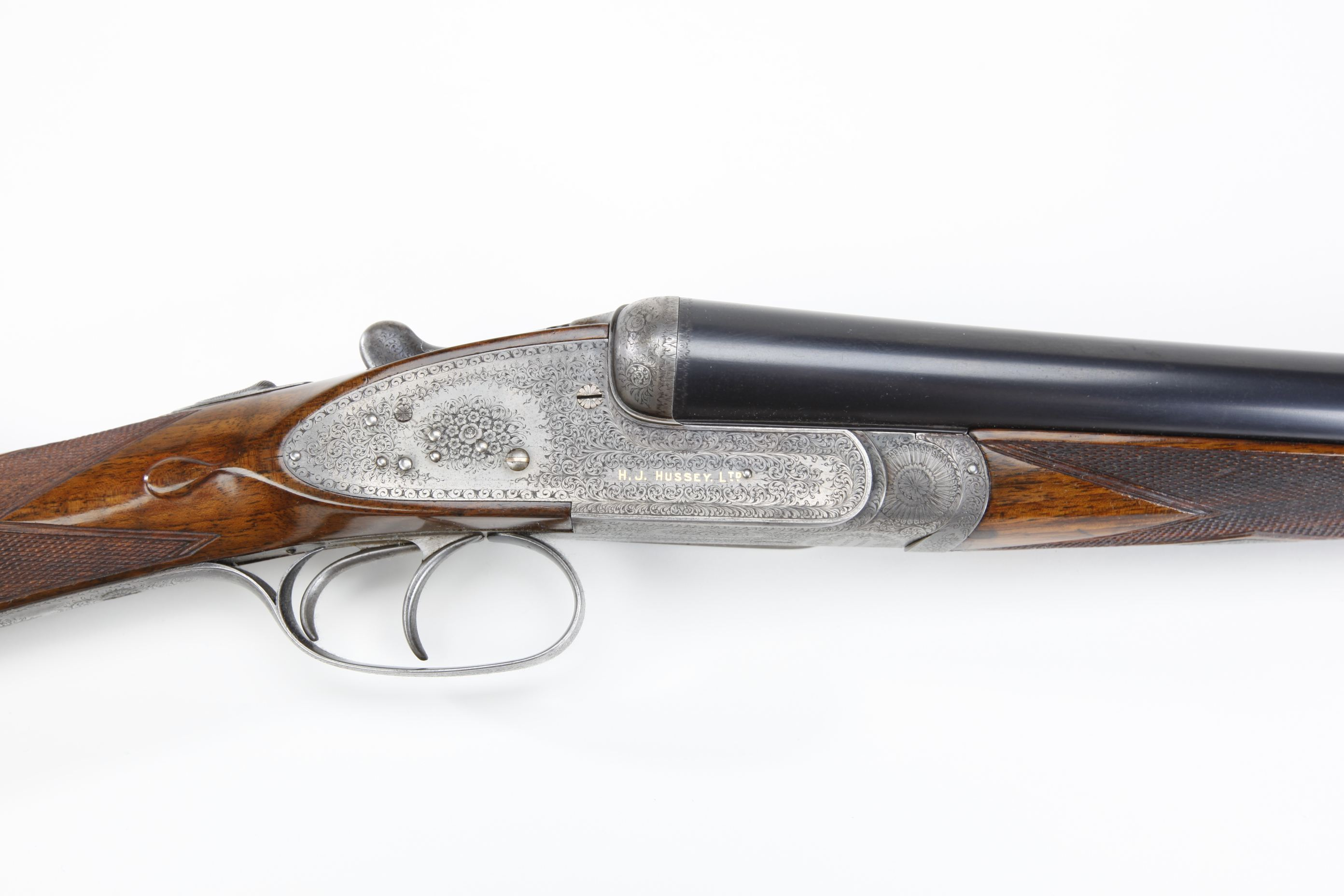 H. J. Hussey Imperial Ejector Side by Side Shotgun